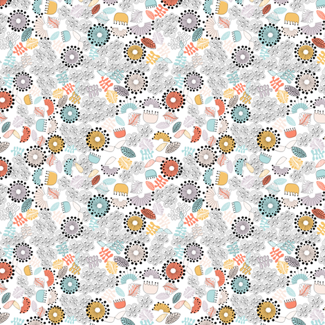 Ditsy Doodle fabric by meg56003 on Spoonflower - custom fabric