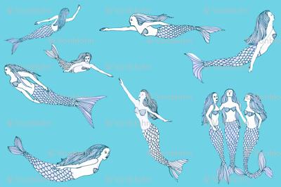 mermaid toile