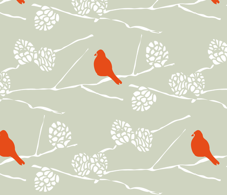 CARDINAL WINTER fabric by trcreative on Spoonflower - custom fabric