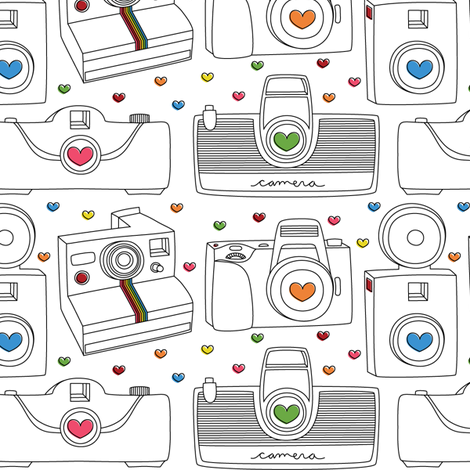 Camera Love fabric by misstiina on Spoonflower - custom fabric