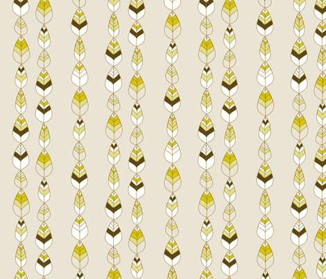 "BEECH BELLS in ""BARK"" fabric by trcreative on Spoonflower - custom fabric"