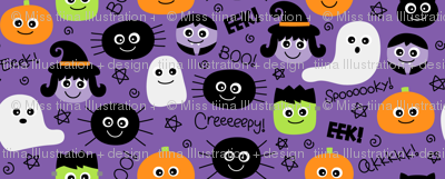 halloween cuties on purple