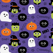 halloween cuties purple