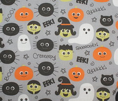 halloween cuties on light slate grey