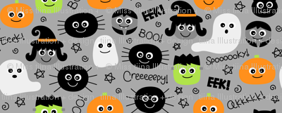 halloween cuties on light slate grey