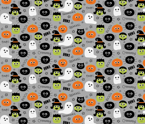 halloween cuties grey