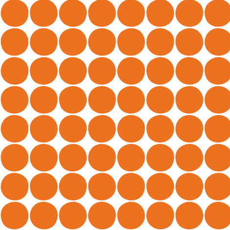 dots orange fabric by misstiina on Spoonflower - custom fabric