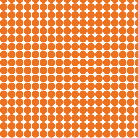 halloween dots orange fabric by misstiina on Spoonflower - custom fabric