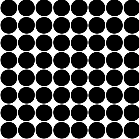 dots black fabric by misstiina on Spoonflower - custom fabric