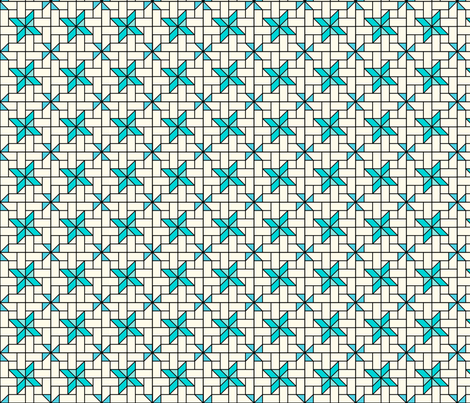 Star Mosaic 3 fabric by zigzagza on Spoonflower - custom fabric