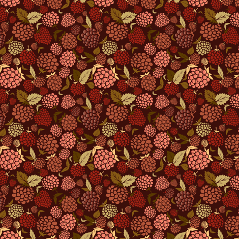 Fruity Ditsy fabric by demigoutte on Spoonflower - custom fabric