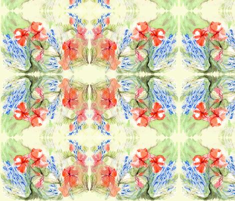 Balsam & Lobelia Flowers by Alexandra Cook fabric by linandara on Spoonflower - custom fabric