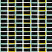 small wired plaid spoonflower_blue_and_gold