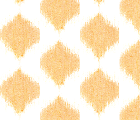 "IKAT TEARDROPS in ""TANGERINE"" fabric by trcreative on Spoonflower - custom fabric"