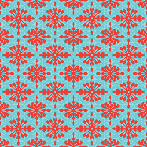 Mini Hawaiian Diamonds fabric by wildnotions on Spoonflower - custom fabric
