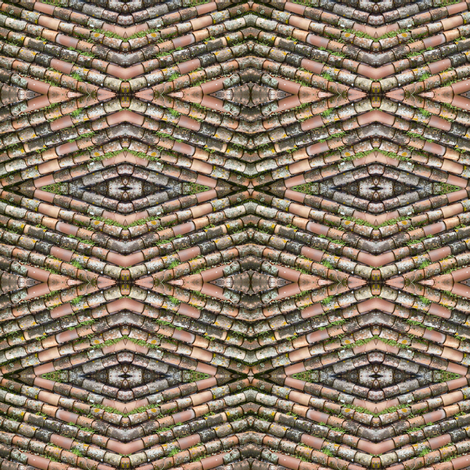 Tile Roof fabric by susaninparis on Spoonflower - custom fabric