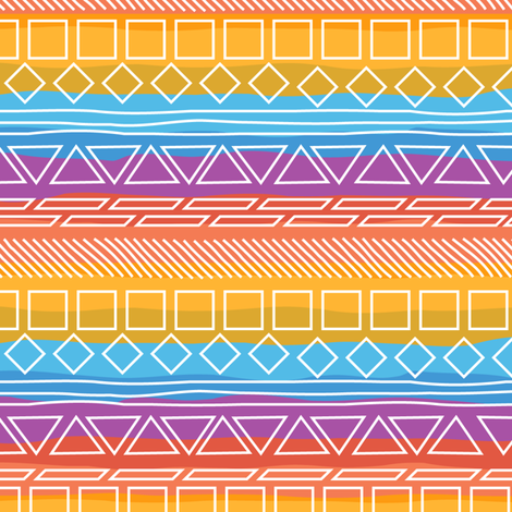 Native Sunrise fabric by wildnotions on Spoonflower - custom fabric