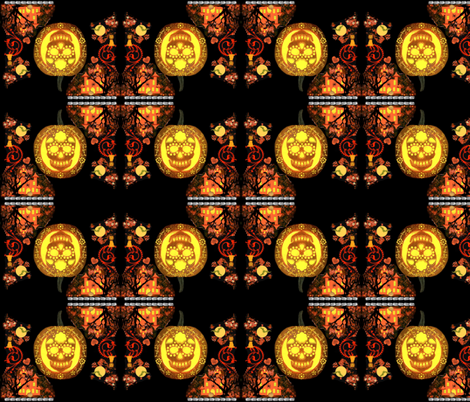 skullie brocade fabric by paragonstudios on Spoonflower - custom fabric