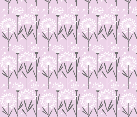 Autumn Dandelions (Spoonflower background)