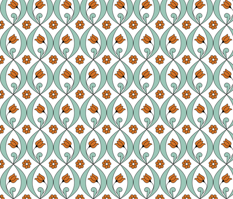 Tulip - medallions in undulating rows fabric by andrea11 on Spoonflower - custom fabric