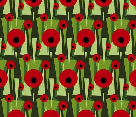 POPPIES fabric by lusyspoon on Spoonflower - custom fabric