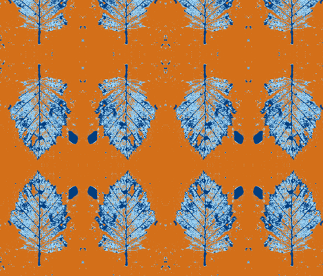 Winter Leaf fabric by arianagirl on Spoonflower - custom fabric