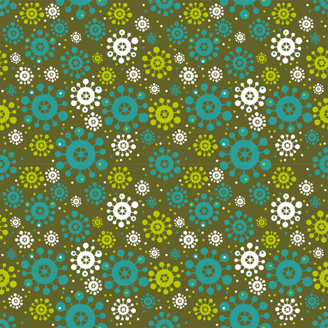 Ditsy fabric by cassiopee on Spoonflower - custom fabric