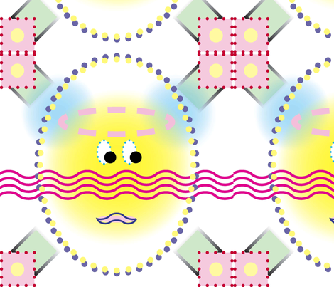 Egg Face Argyle16 fabric by pad_design on Spoonflower - custom fabric