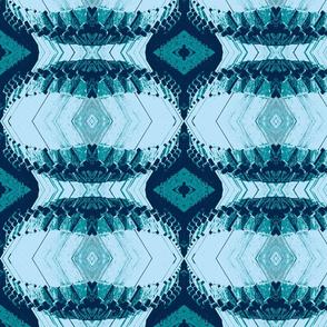 Geometric Pattern Blue