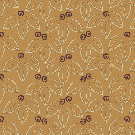 Leavesnberries - Peanut Butter and Jelly fabric by glimmericks on Spoonflower - custom fabric