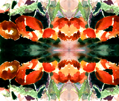 Poppies fabric by arianagirl on Spoonflower - custom fabric