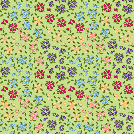 Flood of Flowers A eyelet_4_f_2_multi_green A green-ch-ch-ch fabric by khowardquilts on Spoonflower - custom fabric