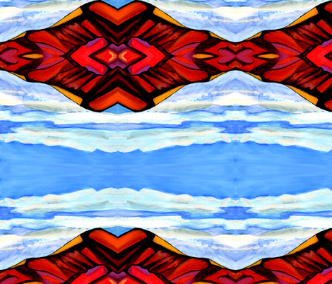 Painted_Desert fabric by arianagirl on Spoonflower - custom fabric