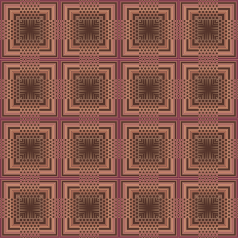 Chocolate Mesh Plaid © Gingezel™ 2011 fabric by gingezel on Spoonflower - custom fabric