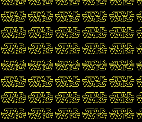 Star Wars Logo fabric by reganraff on Spoonflower - custom fabric
