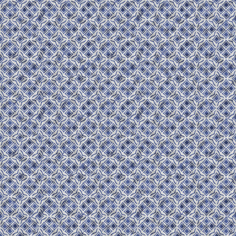 tiles blue fabric by glimmericks on Spoonflower - custom fabric