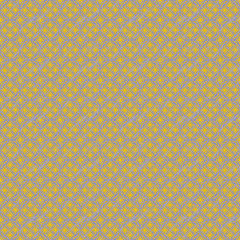 tiles french blue and mustard fabric by glimmericks on Spoonflower - custom fabric