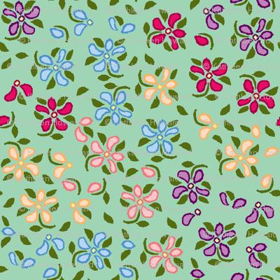 Flood of Flowers A eyelet_4_f_2_multi_tan A bluegreen-ch-ch