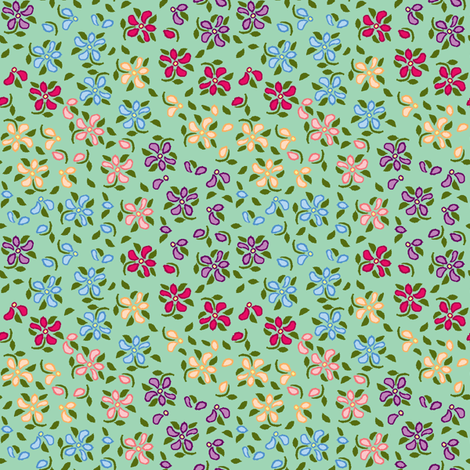 Flood of Flowers A eyelet_4_f_2_multi_tan A bluegreen-ch-ch fabric by khowardquilts on Spoonflower - custom fabric
