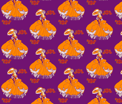 pretty w parasol fabric by nalo_hopkinson on Spoonflower - custom fabric