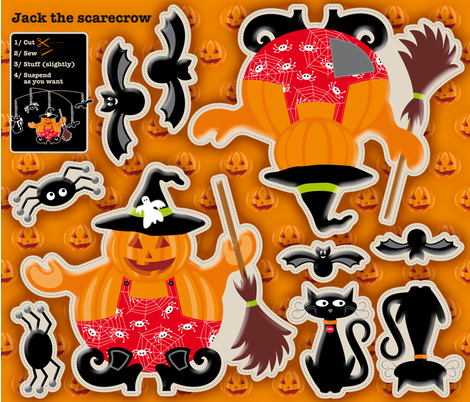 JackO_lantern fabric by cassiopee on Spoonflower - custom fabric