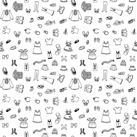 Simple Fashion fabric by emilywhittaker on Spoonflower - custom fabric