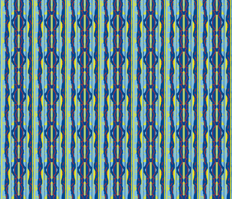 Red-Bead Blue Stripe III fabric by robin_rice on Spoonflower - custom fabric