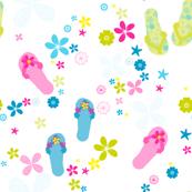 A Ditsy Flip Flop Day! - © PinkSodaPop 4ComputerHeaven.com