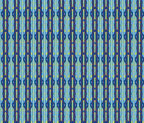 Red-Bead Blue-Stripe fabric by robin_rice on Spoonflower - custom fabric