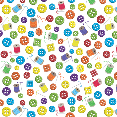 Who's got the Button? fabric by coloroncloth on Spoonflower - custom fabric