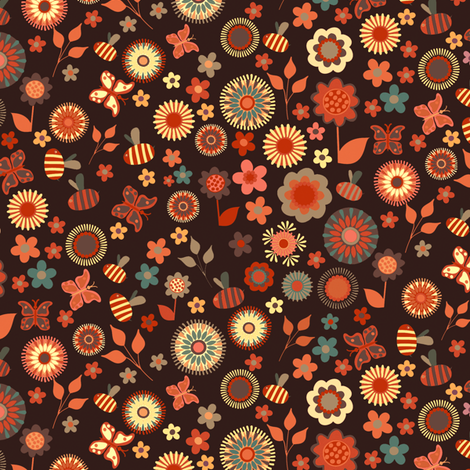 Ditsy Garden fabric by kezia on Spoonflower - custom fabric