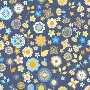 Ditsy Garden Blue