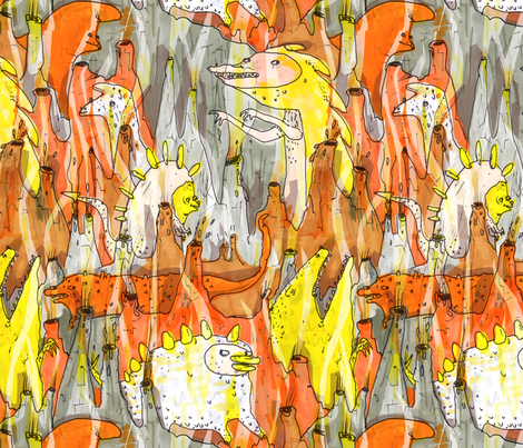 Dinosaurs fabric by philippa_rice on Spoonflower - custom fabric