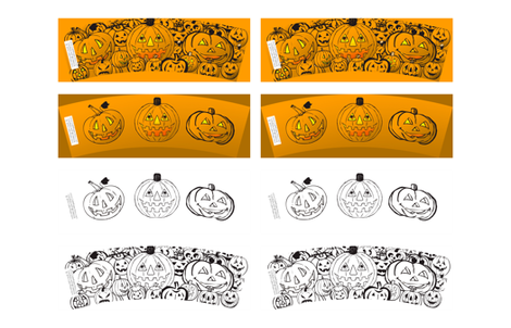 Halloween Coloring Cozy fabric by cafe_projections on Spoonflower - custom fabric